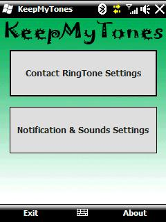 free KeepMyTones for windows mobile phone