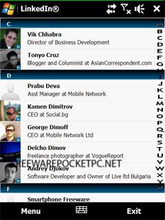 LinkedIn for Windows Mobile