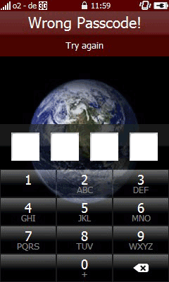 mLock is a device lock application for Windows Mobile phones