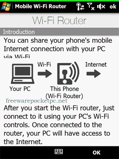 Use your Windows Mobile phone as WiFi hotspot