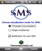 free Mode SMS for windows mobile phone