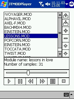 free JT MOD Player 1.0 for windows mobile phone