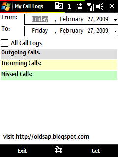free My Call Logs for windows mobile phone