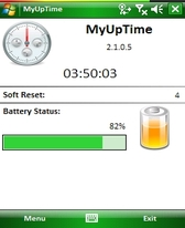 free MyUpTime for windows mobile phone