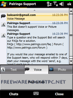 Palringo is a free IM (Instant Messaging) application with support for ICQ, MSN, Yahoo etc.