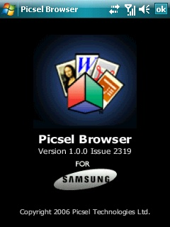 Picsel Browser document and WEB viewer released for Windows Mobile