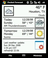 free Pocket Forecast for windows phone
