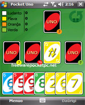 free Pocket Uno for windows mobile phone