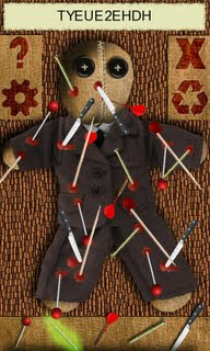 A voodoo doll just in your pocket.