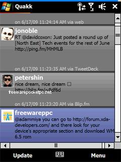 Quakk is an Open Source Windows Mobile Twitter Application