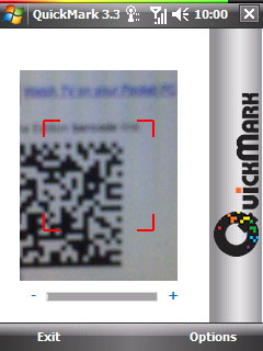 free QuickMark barcode reader for windows mobile phone