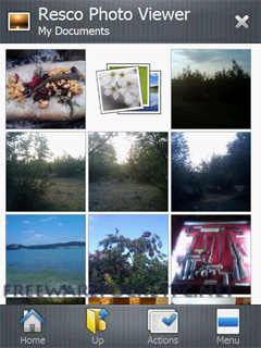 Beta 5 version of Resco Photo Viewer – finger friendly photo album for Windows Mobile.