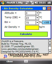 free rhoAIR v1.08g for windows mobile phone