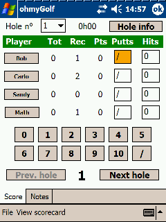 Ohmygolf 1.3 free download for Windows Mobile phone