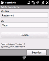 free Search.ch for windows mobile phone