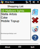 free ShopEasy for windows mobile phone