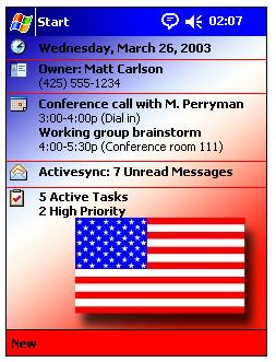 free US Flag Theme 1.0 for windows mobile phone