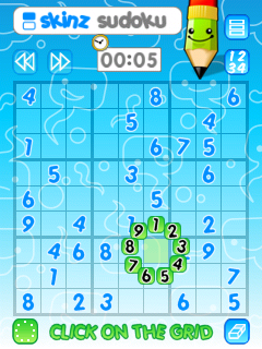 free Skinz Sudoku for windows mobile phone