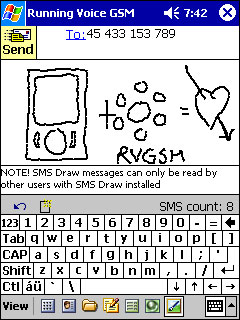 free SMS Draw 1.0 for windows mobile phone