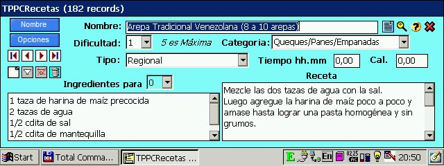 free TPPCReceta para Jornadas 72x 1.60 for windows mobile phone