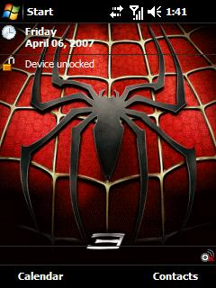 spiderman v3 theme pack Windows Mobile phone Pocket PC