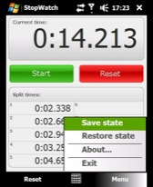 free Stopwatch for windows mobile phone