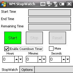 free WMStopWatch v2.1 for windows mobile phone