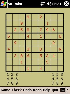 free Su-doku 1.0 for windows mobile phone