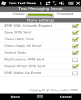 free Tom Text Messaging for windows mobile phone