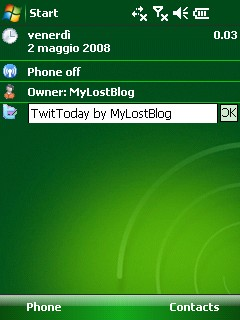 Twitter from your today screen with TwitToday