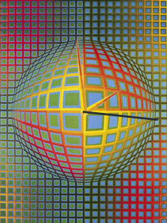 free Spb Time Skin: Art - Vasarely 1.0 for windows mobile phone