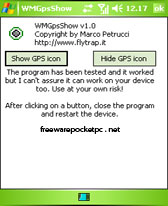 WMGpsShow v1.0 free download for Windows Mobile phone