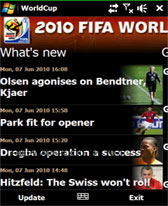 free World Cup 2010 for windows mobile phone