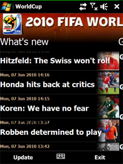 World Cup 2010 is one more app to bring you full coverage of the FIFA World Cup 2010 in South Africa.
