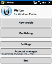 free Writer for windows mobile phone