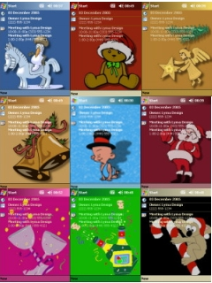 free FREE Xmas Theme Pack 2 for windows mobile phone