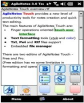 free AgileNotes Touch 3.0 FREEWARE for windows mobile phone