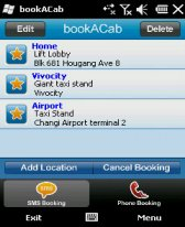 free bookACab Singapore for windows mobile phone
