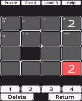 free CalcuDoku for windows mobile phone