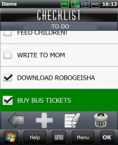 free CheckList for windows mobile phone