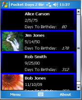 free Days 2 Birthday for windows mobile phone