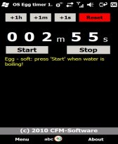 free Egg timer for windows mobile phone