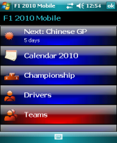 free F1 2010 Mobile for windows mobile phone