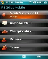 free F1 2011 Mobile for windows mobile phone