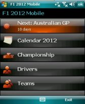 free F1 2012 Mobile for windows mobile phone