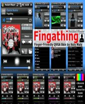 free Fingathing V1.0 - Pocket Player QVGA Skin for windows phone