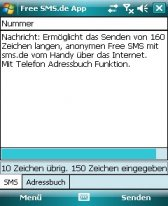 free Free SMS.de App for windows phone