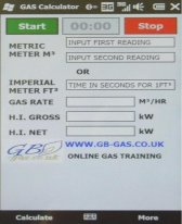 free Gb-Gas heat input Calculator for windows mobile phone