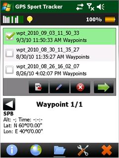 GPS Sport Tracker v1 91 freeware for Windows Mobile Phone