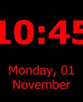 free Just-A-Clock for windows mobile phone